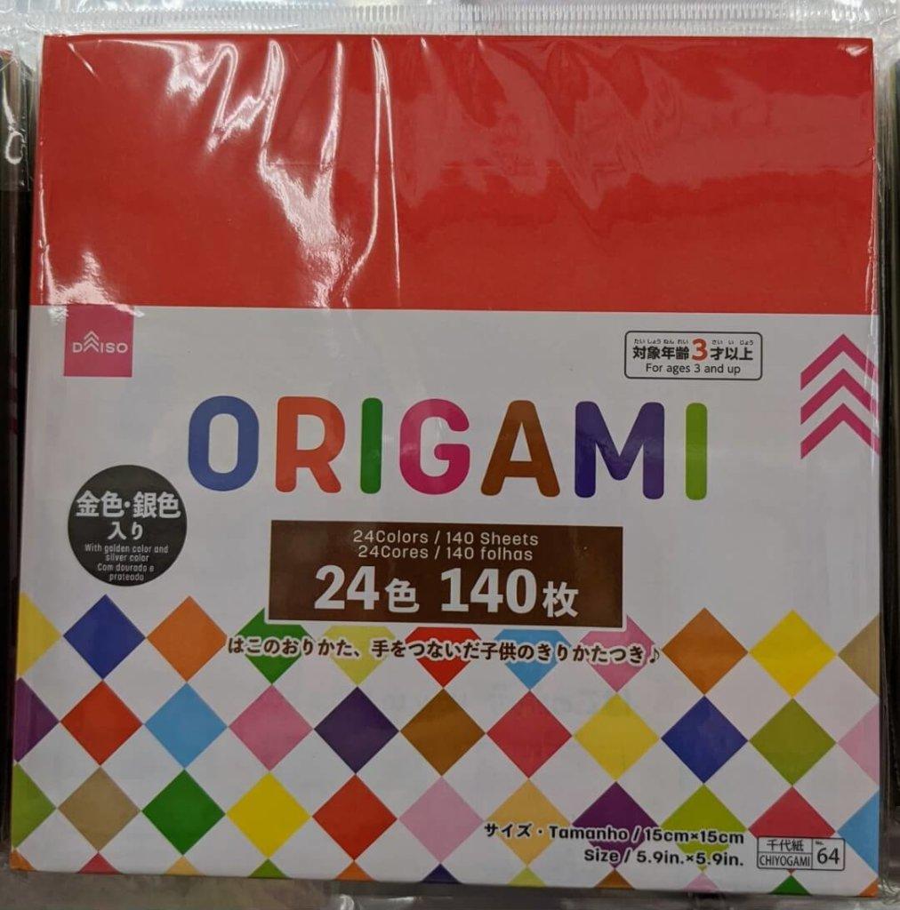 ダイソー 金色・銀色入り24色 140枚 ORIGAMI